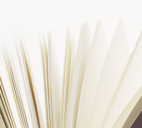 Still Life Fotograf von Einzelobjekt Buch: Katrin Hammer, Produktfotograf Berlin. Eine grafisch angelegte High-Key-Inszenierung von den Seiten eines Buches als Still Life und Imagebild für einen Verlag. Das Aufnahmesetting wurde im Produktfotostudio mit Studiobeleuchtung entwickelt. Anwendung fand die Bildreihe in einer Imagebroschüre über die Neuausrichtung des Verlags. Durch die realistische, feindetailierte Abbild mit grosser aesthetischer Wirkung kann diese Bildreihe auch dem Genre Sachfotografie zugeordnet werden.